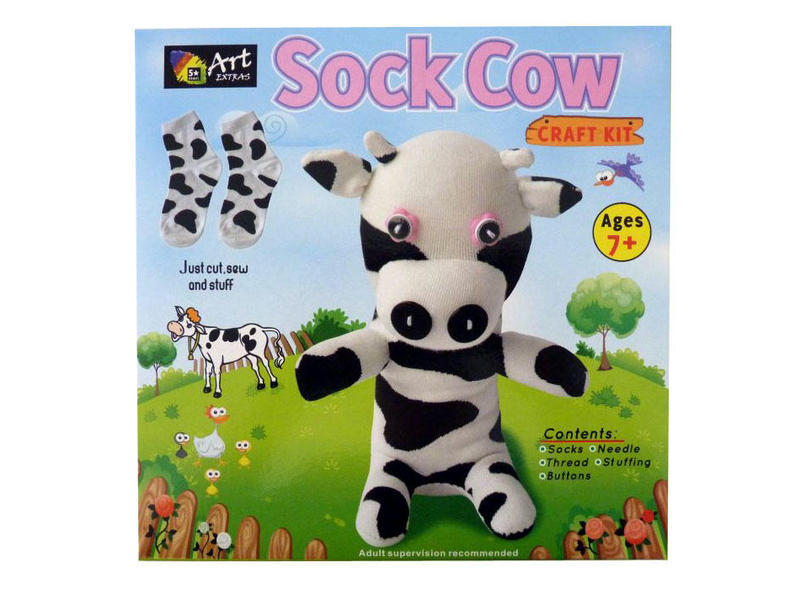 Buy This Craft Kit Sock Cow At Our Craft Online Toy Shop